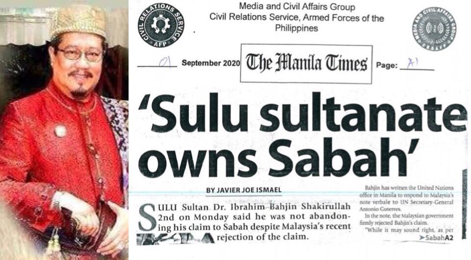 'Sulu sultanate owns Sabah'
